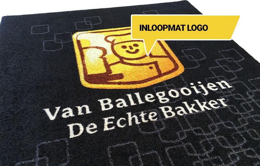 Inloopmat logo voor de echte bakker